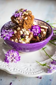 Sobremesa kuchen com flores