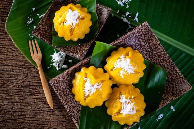 Sobremesa tailandesa, bolo de palm toddy