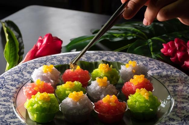 Sobremesa tailandesa Foto Premium