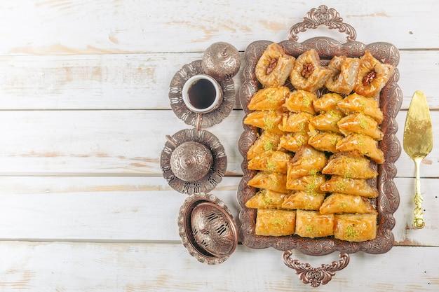 Sobremesa turca do ramadã baklava