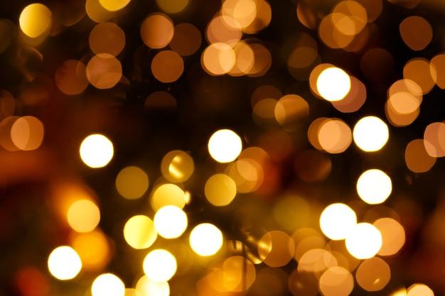 Sobreposição de luz bokeh de árvore de ano novo real para seus projetos