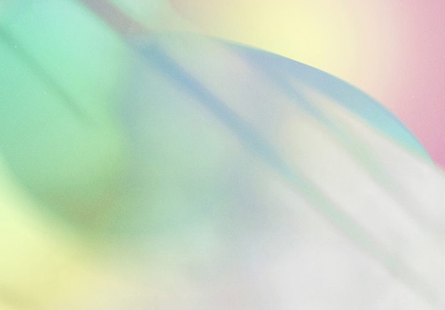Sobreposição de sombra natural em fundo gradiente colorido abstrato com textura granulada, para design de produto e mídia social
