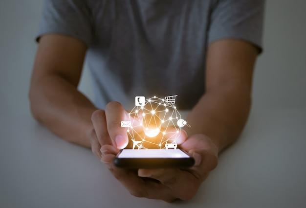 Sociedade de tecnologia on-line compras transporte comunicação sistema pesquisa viagem mensagem
