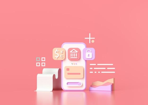 Sociedade sem dinheiro, banco móvel online e pagamento seguro