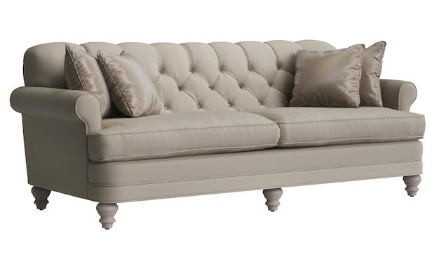 Sofá adornado clássico isolado no fundo branco