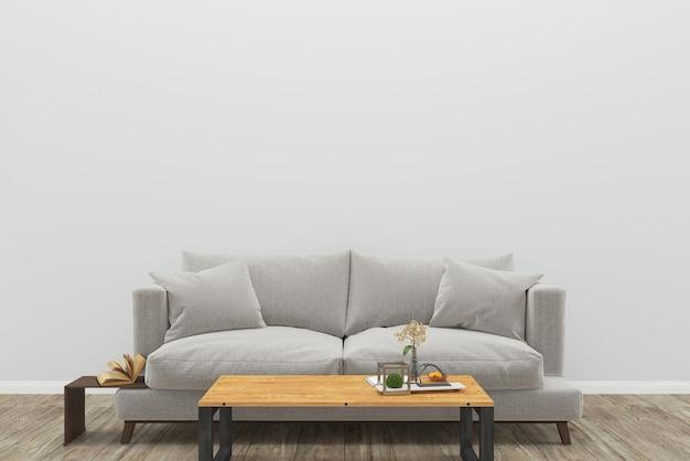Sofá cinza piso de madeira mesa de madeira fundo textura interior sala de estar