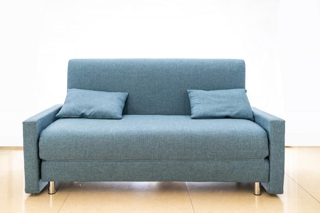 Sofá de tecido azul