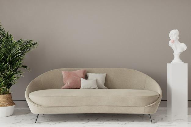 Sofá em uma sala de estar