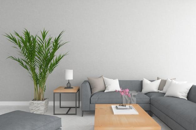 Sofá grande no interior moderno