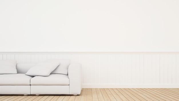 Sofá na sala estilo clássico moderno - renderização em 3d