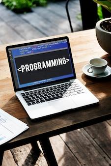 Software de codificação de programação programa de aplicação word
