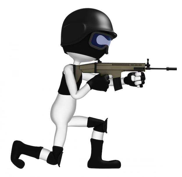 Soldado da força especial.