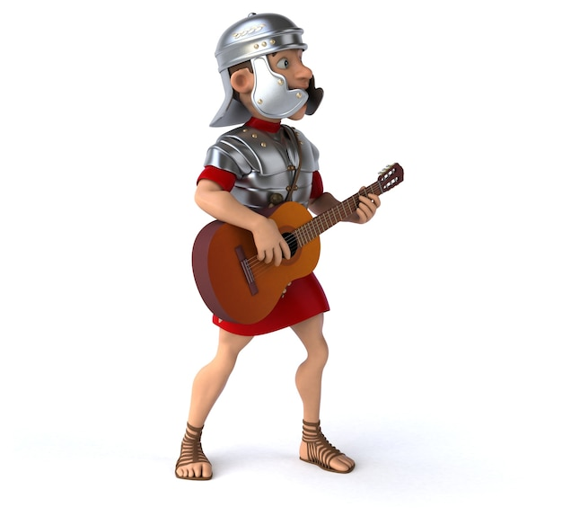 Soldado romano ilustração 3d