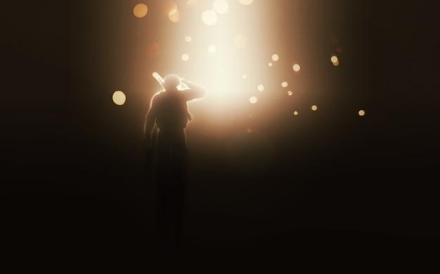 Soldado vendo uma explosão