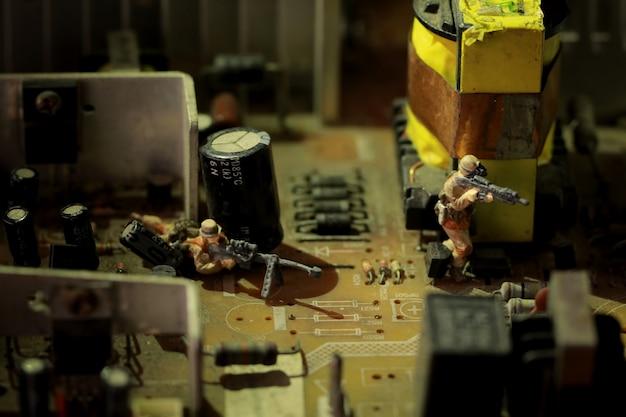 Soldados em miniatura