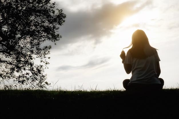Solidão, cópia, mulheres, tristeza, casual, solitário