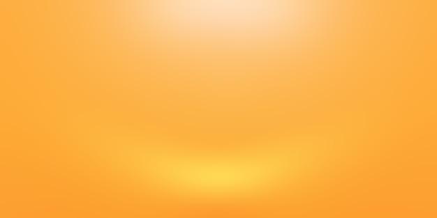 Sólido abstrato de fundo de sala de parede de estúdio de gradiente amarelo brilhante.
