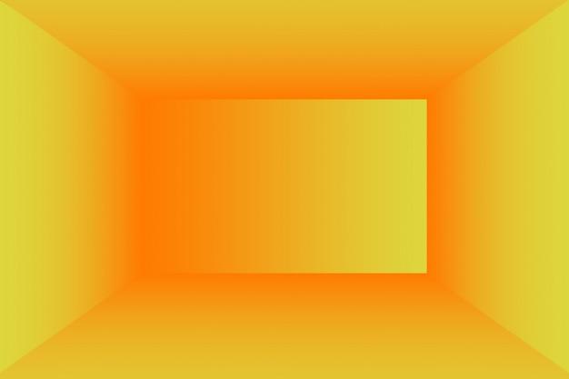 Sólido abstrato de fundo de sala de parede de estúdio de gradiente amarelo brilhante