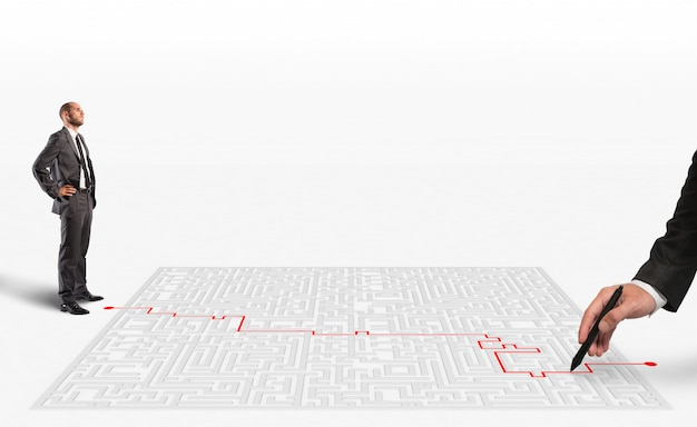 Solução de renderização 3d para o labirinto