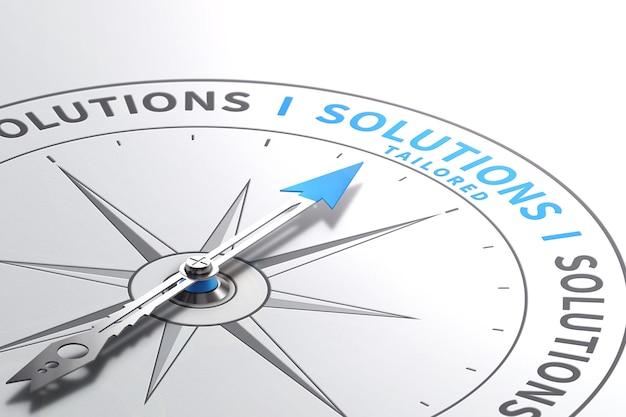 Soluções ou ofertas, serviços sob medida