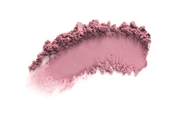 Sombra, amostra de blush isolada no branco