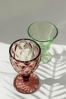 Sombra de óculos transparente