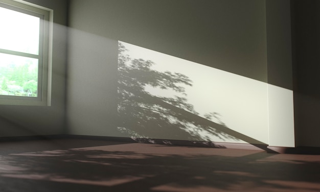 Sombras de árvores dentro de uma casa