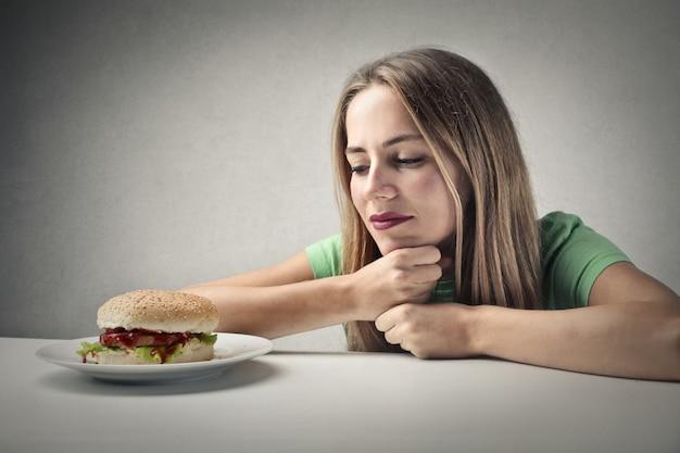 Sonhando com um hambúrguer