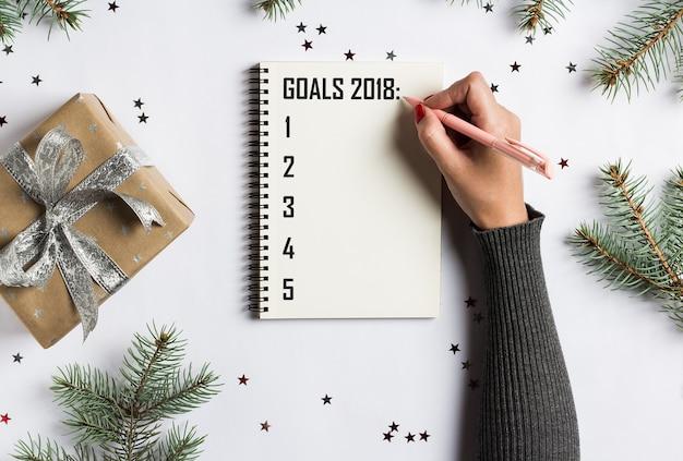 Sonhos de planos de metas fazem para fazer a lista para a escrita do conceito de natal de ano novo