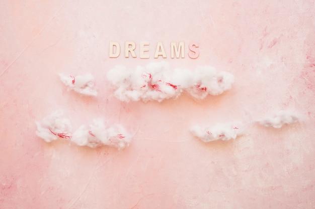 Sonhos de texto sobre as nuvens