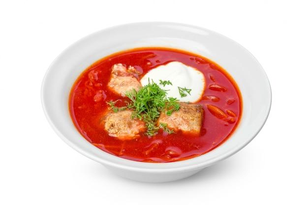 Sopa, borsch vermelho