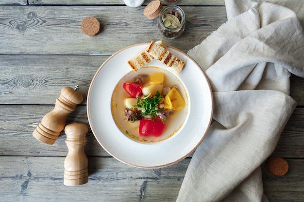 Sopa de batata tradicional