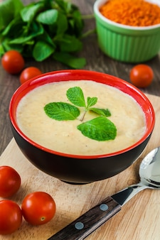 Sopa de creme de lentilha