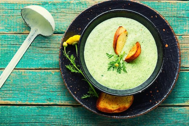 Sopa de legumes de verão, sopa de purê