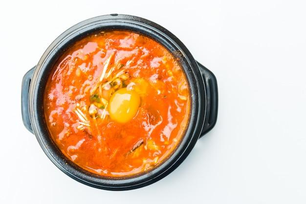 Sopa picante da coréia