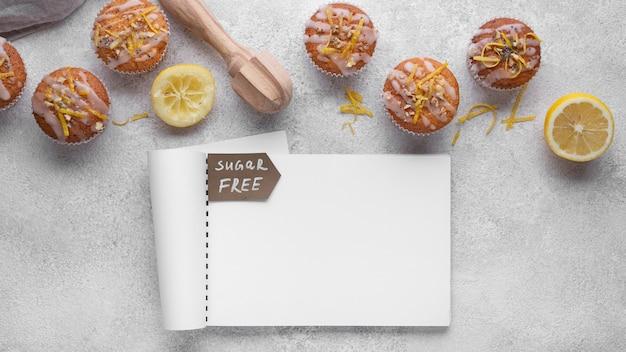 Sortido de muffins sem açúcar