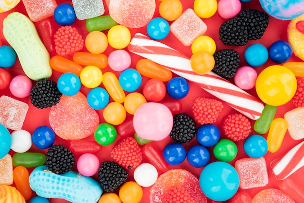 Sortidos de doces com sabor delicioso