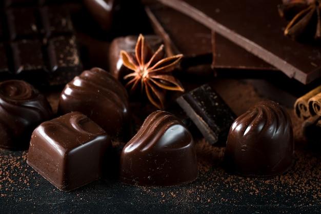 Sortimento de chocolate