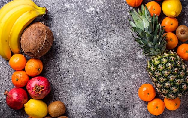 Sortimento, de, fresco, frutas tropicais