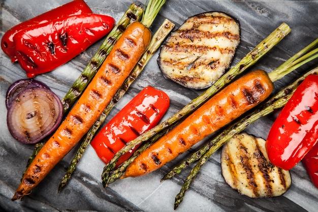 Sortimento, de, legumes grelhados