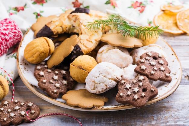 Sortimento, de, natal, biscoitos