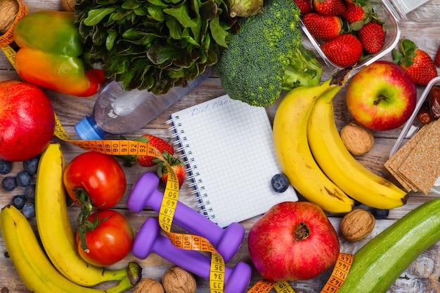 Sortimento, de, saudável, frutas legumes
