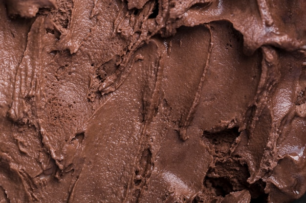 Sorvete de close-up com sabor de chocolate