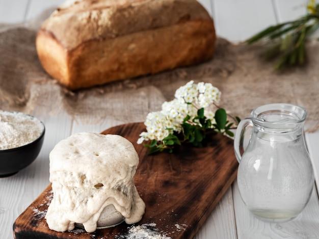 Sourdough para fazer pão em casa