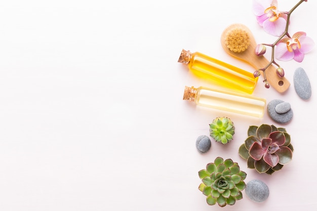 Spa com bio cosmético artesanal e composição de cactos