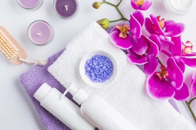 Spa vida ainda com produtos de beleza