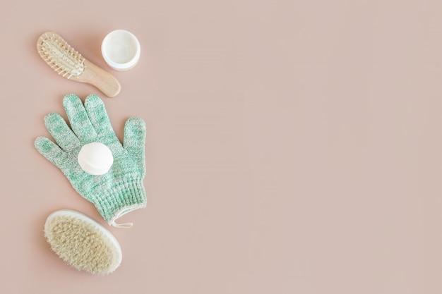 Spa wellness beleza mock up, vários produtos de beleza