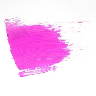 Sparal de tinta cor-de-rosa em branco