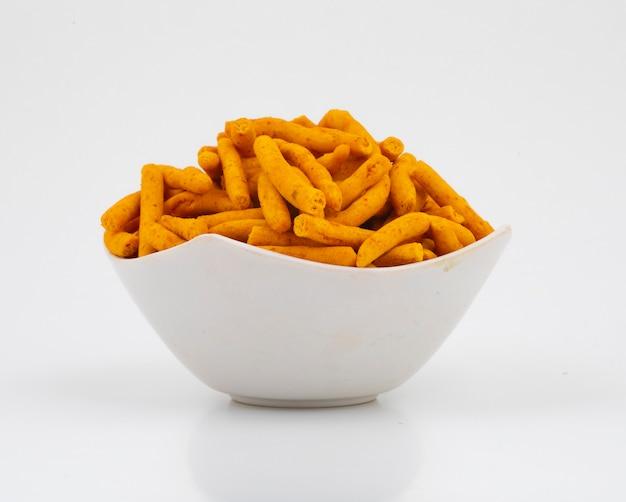 Spicy sev é um petisco popular em gujarati