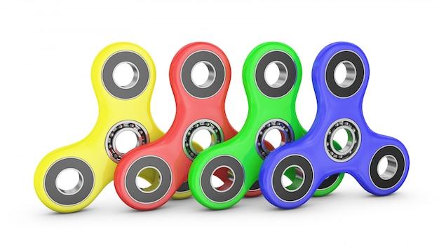 Spinners de cores diferentes com rolamentos de esferas.